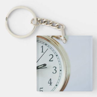 time Single-Sided square acrylic keychain