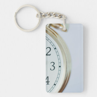 time Single-Sided rectangular acrylic keychain