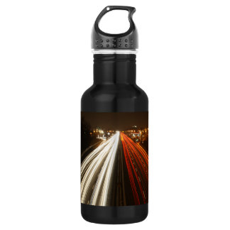Time Lapse Freeway Lights 18oz Water Bottle