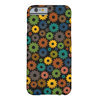 Time Machine Pattern in Colors with backfround Barely There iPhone 6 Case