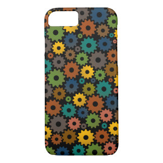 Time Machine Pattern in Colors with backfround iPhone 8/7 Case