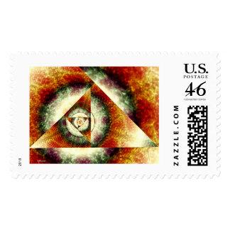 time machine postage stamp