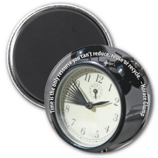 Time Management 2 Inch Round Magnet