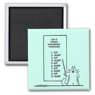 Time Management 2 Inch Square Magnet