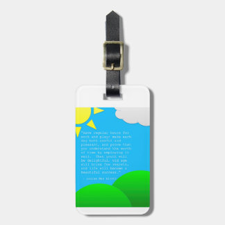 Time Management a la Alcott Luggage Tag