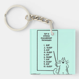 Time Management Acrylic Key Chain