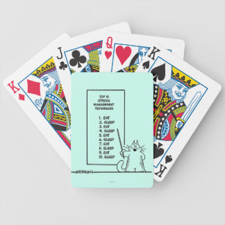 Time Management Bicycle Playing Cards