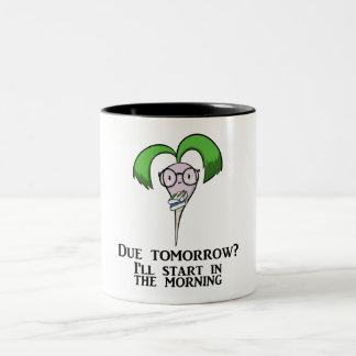 Time Management Turnip (mug) Two-Tone Coffee Mug