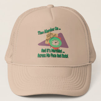 Time Marches On 55th Birthday Gifts Trucker Hat
