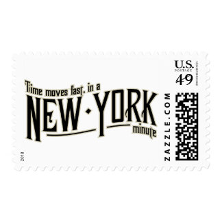 TIme moves fast in a New York minute Postage