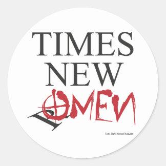 Time new omen - Happy Halloween Classic Round Sticker
