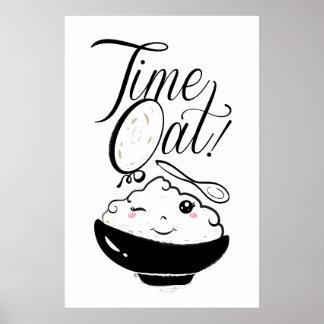 Time Oat Kawaii Poster