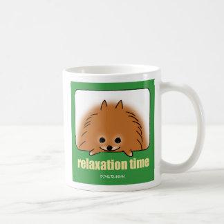 Time of relaxing coffee mug