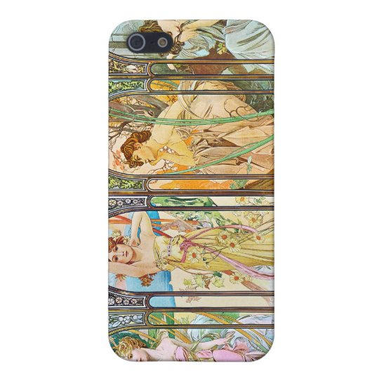 Time of the Day, Alphonse Mucha Case For iPhone SE/5/5s