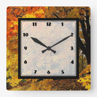 Time of the Season Square Wall Clock