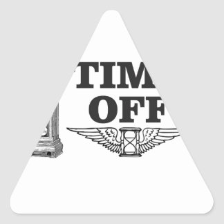 time off work yeah triangle sticker