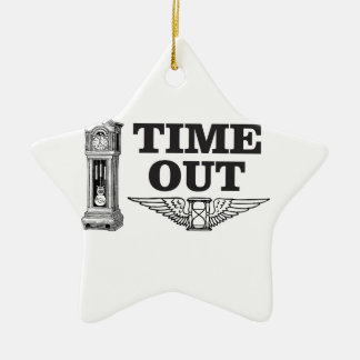 time out clock ceramic ornament