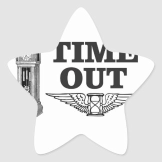 time out clock star sticker