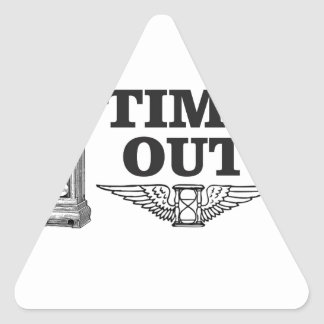 time out clock triangle sticker