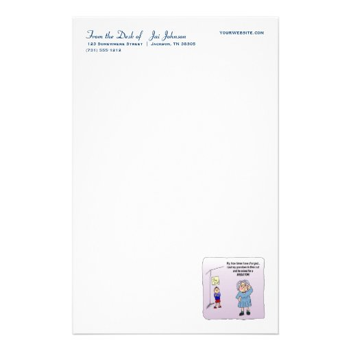 Time Out Funny Humor Maw Stationery