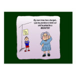 Time Out Funny Humorous Maw Postcard