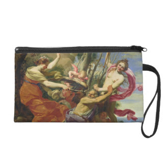 Time Overcome by Youth and Beauty Wristlet