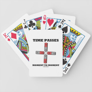 Time Passes Moment To Moment (Magnetic Quadrupole) Bicycle Playing Cards