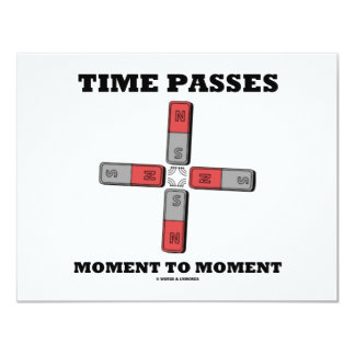 Time Passes Moment To Moment (Magnetic Quadrupole) Card