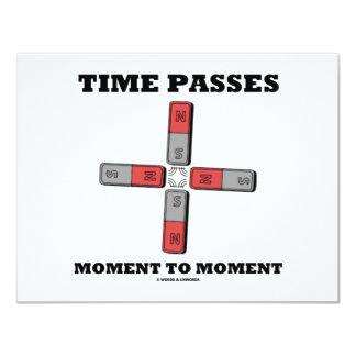 Time Passes Moment To Moment (Magnetic Quadrupole) Custom Invitation