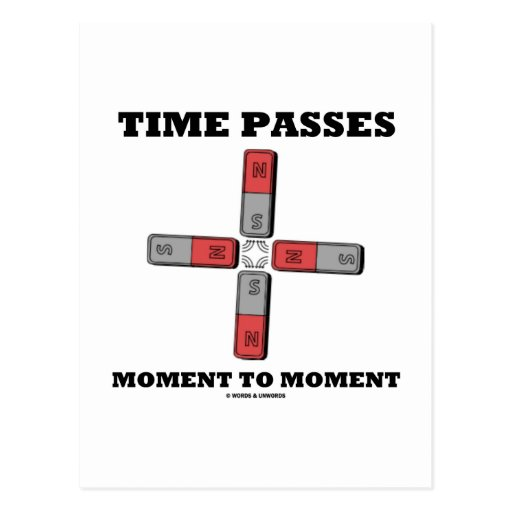 Time Passes Moment To Moment (Magnetic Quadrupole) Post Cards