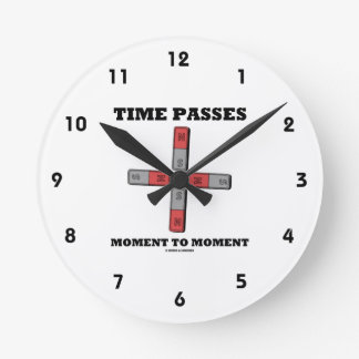 Time Passes Moment To Moment (Magnetic Quadrupole) Round Clock