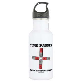 Time Passes Moment To Moment (Magnetic Quadrupole) Stainless Steel Water Bottle