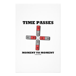 Time Passes Moment To Moment (Magnetic Quadrupole) Stationery