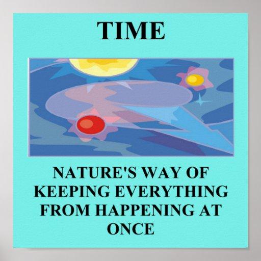 time physics joke poster
