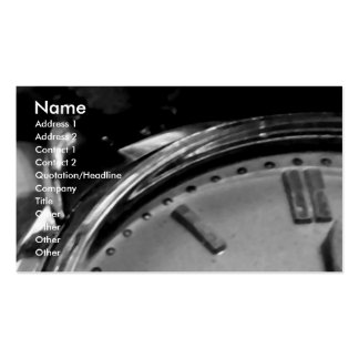 Time Piece Double-Sided Standard Business Cards (Pack Of 100)