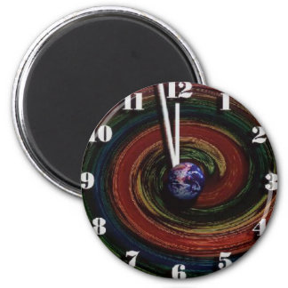 Time Running Out 2 Inch Round Magnet