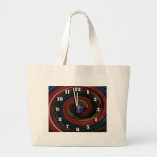 Time Running Out Large Tote Bag
