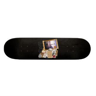 """Time"" Scrapbook/Collage Skate Boards"