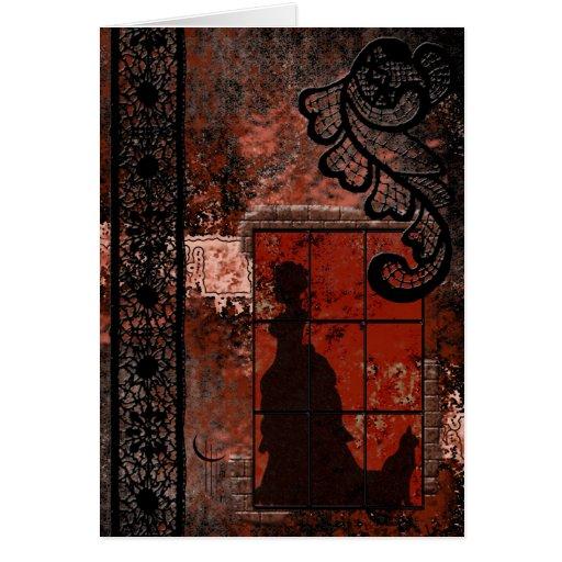 Time Shadows Greeting Card