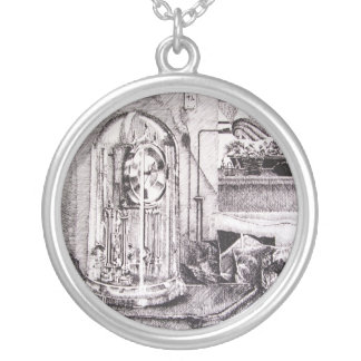 Time Silver Plated Necklace
