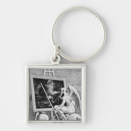 Time smoking a Picture, 1761 Keychain
