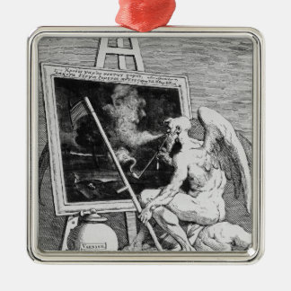Time smoking a Picture, 1761 Metal Ornament