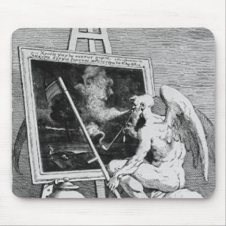 Time smoking a Picture, 1761 Mouse Pad