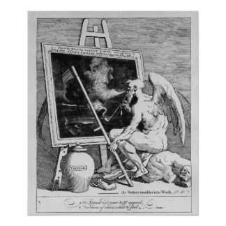 Time smoking a Picture, 1761 Poster