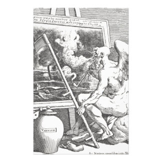 Time smoking a picture by William Hogarth Stationery