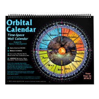 Time-Space Orbital Wall Calendar 2016