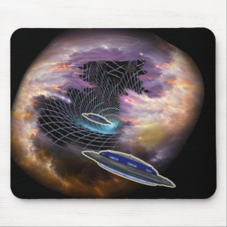Time Space Wormhole Mouse Pad