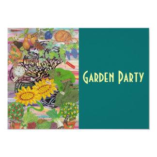 Time Spent in the Garden, Garden Party Invitation