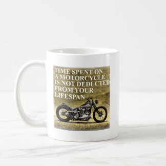 Time Spent On A Motorcycle Classic White Coffee Mug