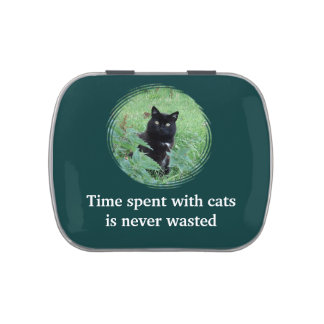 Time Spent With Cats Is Never Wasted Cute Candy Candy Tins